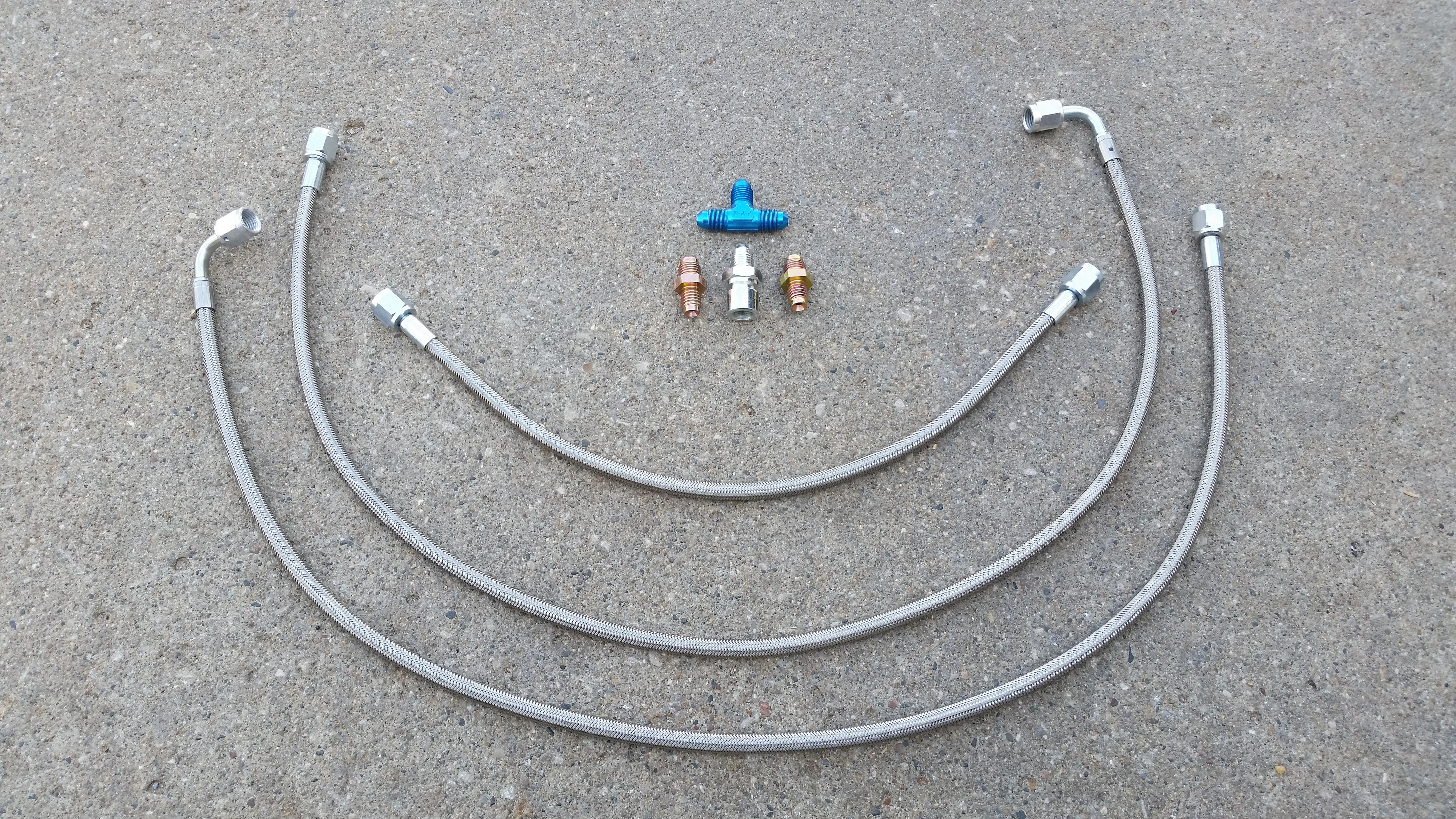 Pro Braking PBR2689-WHT-GOL Rear Braided Brake Line White Hose /& Stainless Gold Banjos
