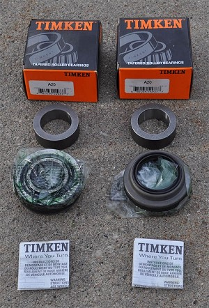 "9"" Ford A20  Axle/Wheel Bearings (Set 20) Timken (pair)"